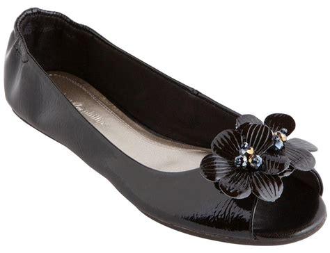 lindsay phillips slippers lindsay phillips open toe kate ballet flats shoe black