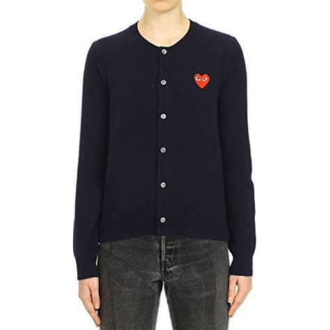 Sweater Comme Des Garcons Abu Brothersapparel comme des garcons play s patch cardigan p1n007 xs navy buy in uae