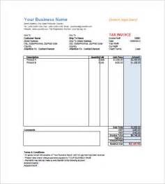Retail Receipt Template by Retail Invoice Template 8 Free Word Excel Pdf Format