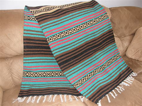 mexican blanket upholstery masculine throw r made from mexican blanket fabric long
