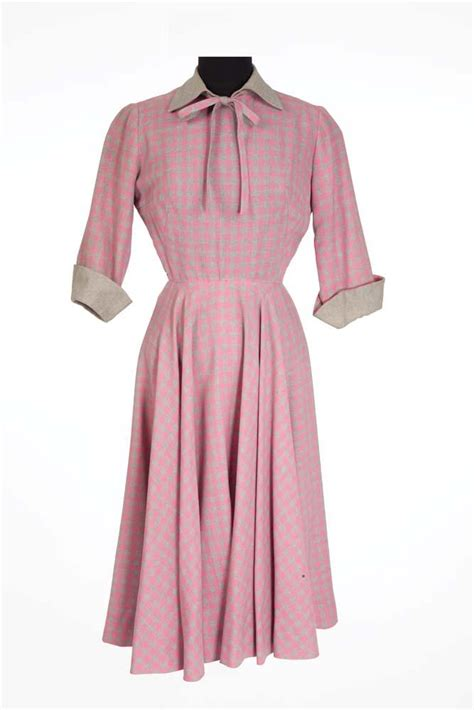Joan Pink Dress joan harriet craig pink and grey dress from
