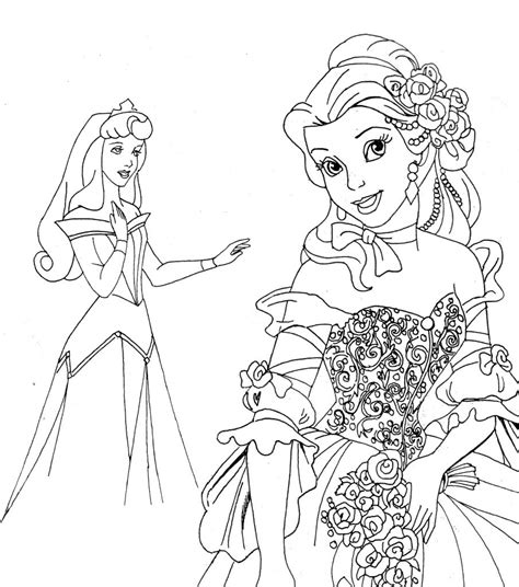 Free Printable Disney Princess Coloring Pages For Kids Print Color Page