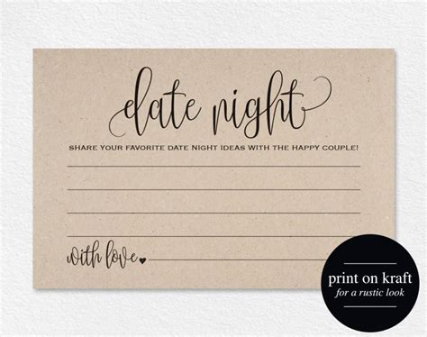 templates for wedding advice cards 2 date cards date ideas date jar wedding