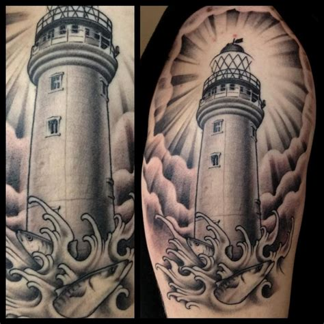 lighthouse tattoos lighthouse by pool tattoos yup
