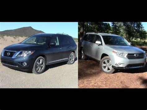 toyota highlander vs nissan pathfinder toyota camry vs nissan altima review html autos post