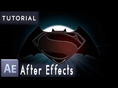 tutorial logo superman tutorial batman superman logo after effects youtube