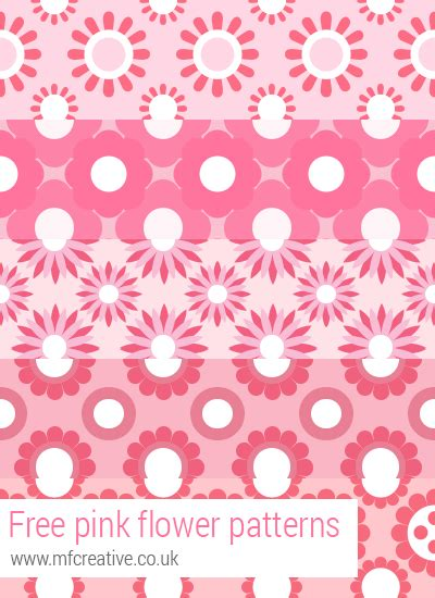 flower pattern photoshop free free pink flower patterns for photoshop by mfcreative on