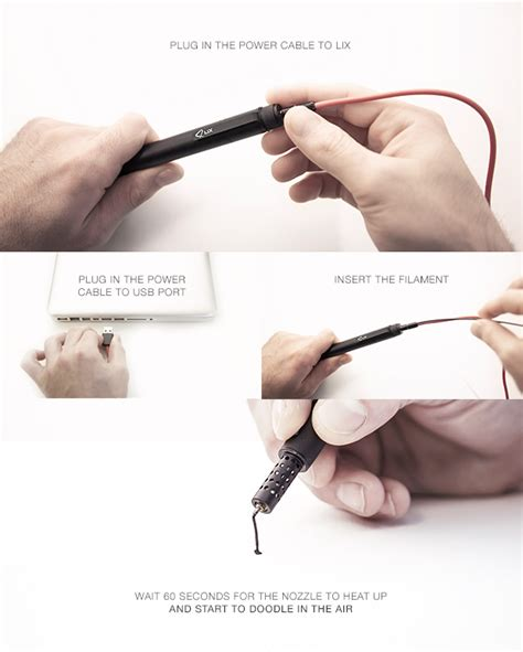 doodler pen kickstarter lix the smallest 3d printing pen in the world by lix