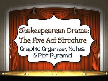 shakespeare  act structure graphic organizer notes