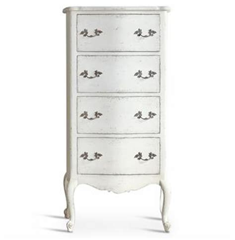Narrow White Dresser Clementine Country Antique White Narrow Chest