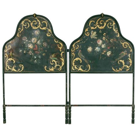 hand painted headboards hand painted and gilt napoleon iii period headboard for