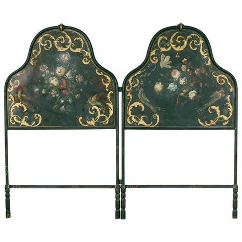 hand painted headboard hand painted and gilt napoleon iii period headboard for