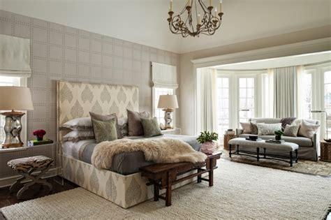 fur wallpaper for bedrooms rivets wallpaper transitional bedroom andrea goldman design