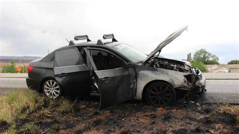 St George Subaru Vehicle On Interstate 15 Destroys Car Disrupts