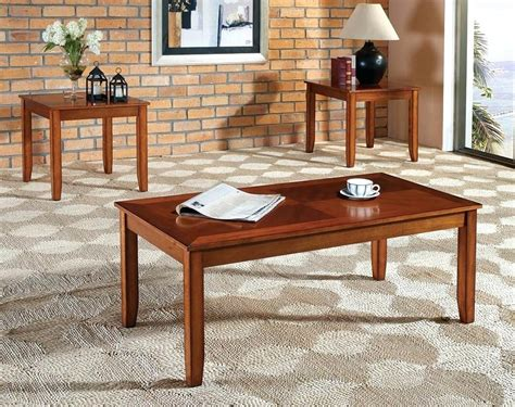 Coffee Table End Table Set Oak Coffee Table Set Thelt Co