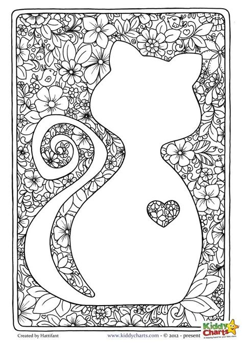 kitten coloring pages for adults free mindful coloring pages