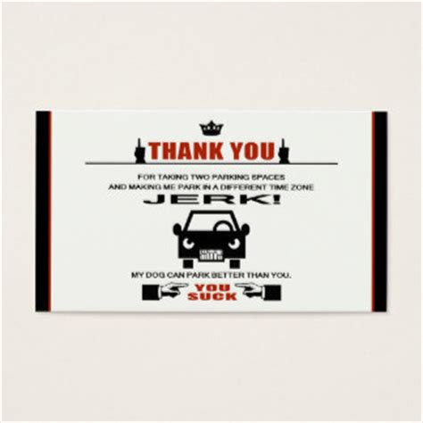 bad parking business card template bad parking business cards templates zazzle