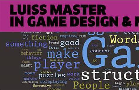 game design master master in game design e management alla luiss il gioco 232