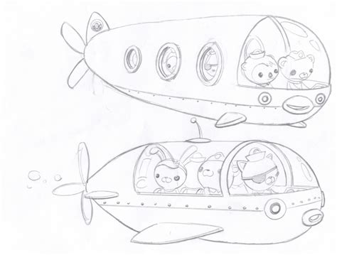 Gup S Coloring Page free coloring pages of octonauts gups