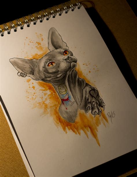 tattooed sphynx cat tattooed sphynx cat by ryka44 on deviantart