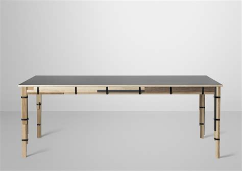Design Table by Keep Table Mixed Wood Types By Muuto