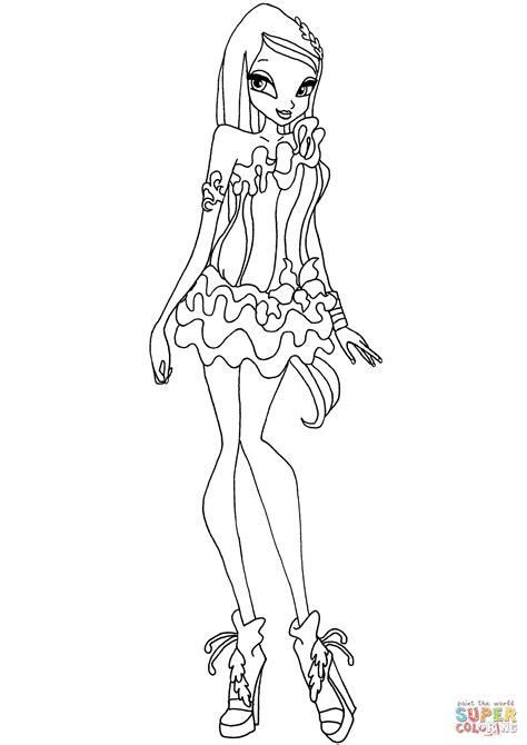 winx club crystal coloring page free printable coloring