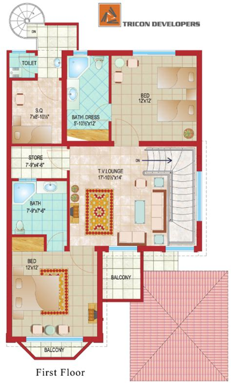 home design 8 marla floor plan tricon village