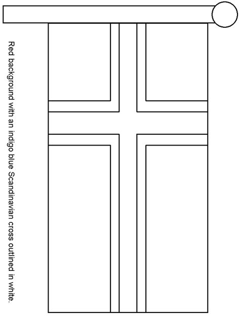 norway flag free colouring pages