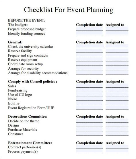 planner checklist template event planning checklist search functions