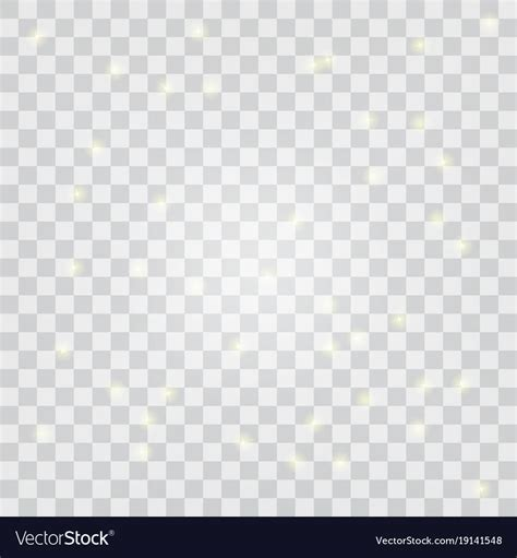 transparent background image glitter and glow on transparent background vector image