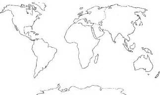Continents And Oceans Blank Map by 403 Forbidden