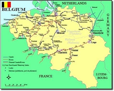map of belgium waterways « contentedsouls