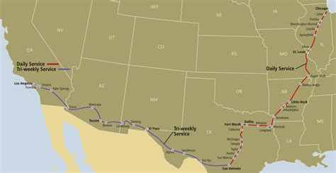 amtrak texas eagle route map from the south to the depot inn