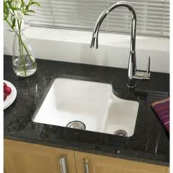 Undermounted Kitchen Sink White Ceramic Single Undermount Kitchen Sinks On Granite