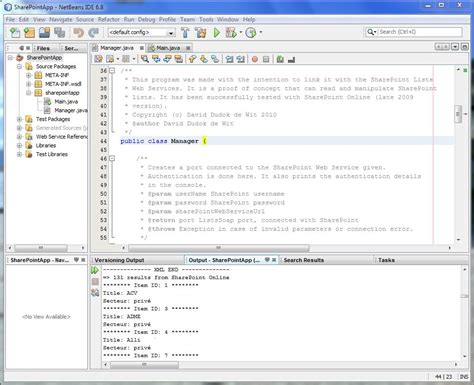 tutorial java web application netbeans reading a sharepoint list with java tutorial david s it