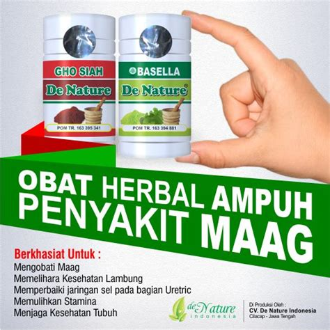 Obat Sakit Maag Herbal obat maag toko pengobatan herbal de nature