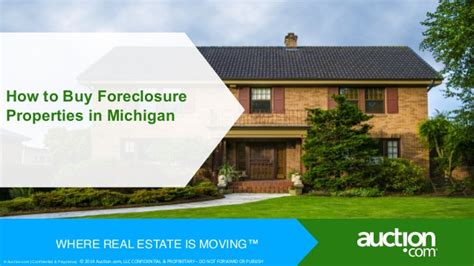 how to buy foreclosure properties in michigan