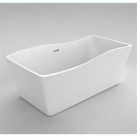 59 inch bathtub acri tec simone i seamless free standing acrylic bathtub
