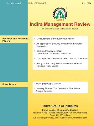 Indira Mba Pune Review by Publications Indira Of Institutes Pune