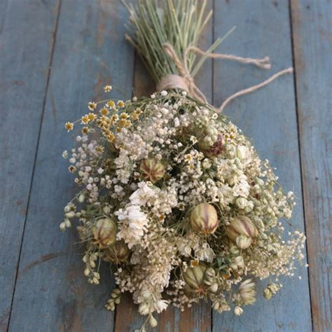 Dried Flowers by Meadow Dried Flower Wedding Bouquet By The Artisan