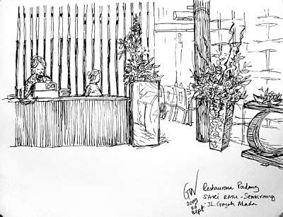tata ruang rumah makan padang urban sketchers indonesia rm padang sari ratu semarang
