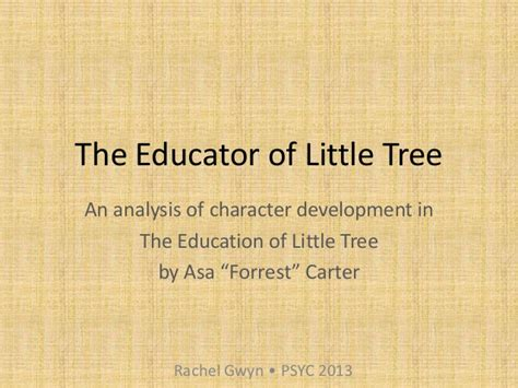 themes in the education of little tree the educator of little tree