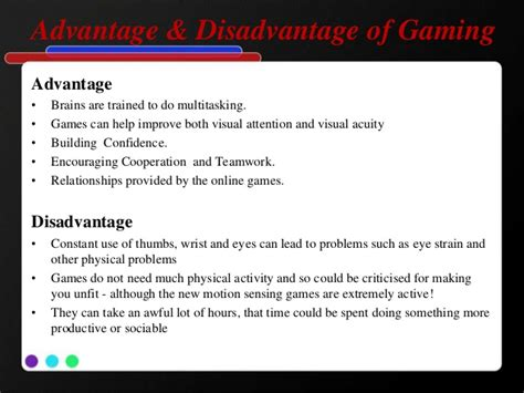 online tutorial disadvantages gaming console