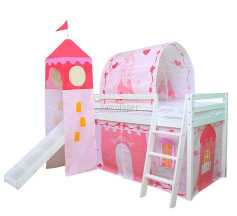 Bunk Bed Tent Only Foxhunter Wooden Mid Sleeper Cabin Bunk Bed Tent Tent Bunk Beds Active Writing