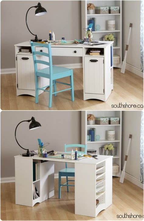 diy craft desk with storage craft tables you can buy instead of diy infarrantly creative