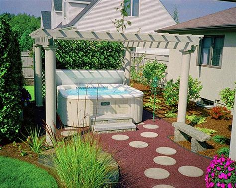 Backyard Spa Landscaping Ideas The Best Backyard Tub Ideas For Your Backyard Homescorner