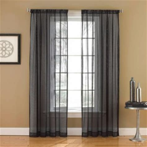 black sheer curtains buy black white sheer curtains from bed bath beyond