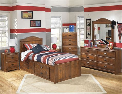 bedroom sets with storage under bed barchan youth panel underbed storage bedroom set from