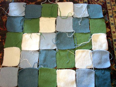 Knitting A Patchwork Blanket by Knitted Patchwork Baby Blanket