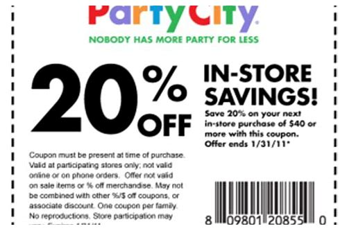 party city coupons printable 2018